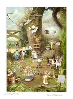 Monday Morning .. Fairy gift Print Mounted or unmounted or