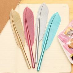 Beautiful Feather Pens Ballpoint Pen Writing For School Supplies Stationery Cheap Items Cute Kawaii Pen stationery items Kawaii Pens, Cool School Supplies, Office Supplies, Cute Pens, Stationery Pens, Kawaii Stationery, Pen Sets, Student Gifts, Gel Pens