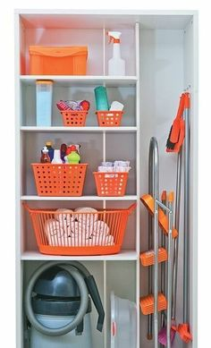"""Visit our internet site for additional info on """"laundry room storage shelves"""". It is a superb spot to learn more. Utility Room Storage, Utility Closet, Laundry Closet, Cleaning Closet, Laundry Room Organization, Laundry Room Design, Storage Room, Closet Storage, Storage Shelves"""