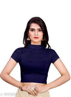 Checkout this latest Blouses Product Name: *Aishani Refined Women Blouses* Fabric: Hosiery Sleeve Length: Short Sleeves Pattern: Solid Multipack: 1 Sizes: 30, 32, 34, 36, Free Size (Bust Size: 36 in, Length Size: 15 in)  Country of Origin: India Easy Returns Available In Case Of Any Issue   Catalog Rating: ★4 (507)  Catalog Name: Kashvi Petite Women Readymade Blouse CatalogID_2286677 C74-SC1007 Code: 942-12005454-555