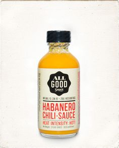 ALL GOOD Habanero Chili Sauce, handcrafted in small batches in California