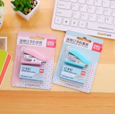 Cheap Mini Stapler, Buy Quality Mini Stapler Set Directly From China Office  Binding Supplies Suppliers: Mini Stapler Plastic Stationery Set Kawaii  Cartoon ...