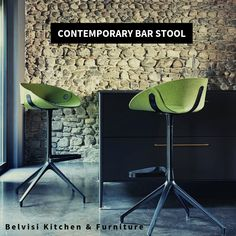 Fl@t contemporary Barstool is made from a thin, flat, flexible and padded form, which is bent to obtain its unique shell. Base available in Black Die-Cast Aluminium with 360o Swivel Mechanism without memory return. Shop Today.