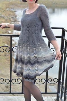 Вязаная мода для платьев 2017-2018 | Вязальный роман | Яндекс Дзен