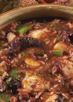 Arroz de Polvo Octopus Recipes, Fish Recipes, Seafood Recipes, Beef Recipes, Vegan Recipes, Cooking Recipes, Portuguese Recipes, Portuguese Food, Fish Dishes