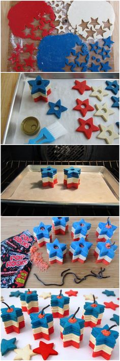 Exploding Star Cookie Stackers #poprocks #4thofJuly #firecracker