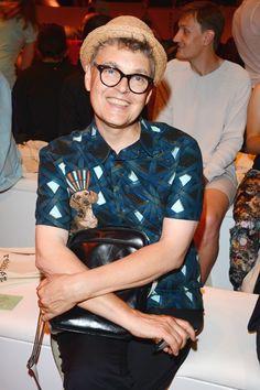 Rolf Scheider in der Front Row von Rebekka Ruetz auf der Fashion Week Berlin 2014