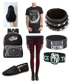 """""""First day of school (outfit50)"""" by alternative-outfits ❤ liked on Polyvore featuring rag & bone, TOMS, Valentino, Vans and Kenzie"""