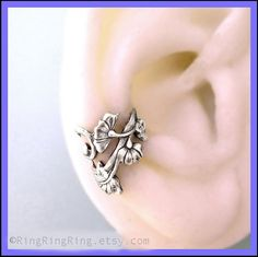 Art Nouveau ear cuff earring jewelry Antiqued by RingRingRing, $35.00