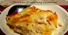 Amish Chicken and Dumpling Casserole. tastes just like a 'pot' of chicken and dumplings, just not as juicy. This recipe could serve 8 adults along with a veggie. Chicken Dumpling Casserole, Casserole Dishes, Casserole Recipes, Chicken Dumplings, Chicken Soup, Rotisserie Chicken, Boneless Chicken, Recipe Chicken, Cracker Chicken
