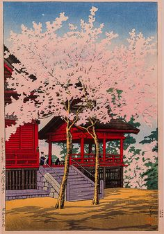 Kawase Hasui: '9 Kiyomizu Hall' (courtesy of Virginia Museum of Fine Arts)