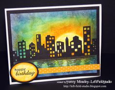 Cityscape silhouette card by Left Field Studio