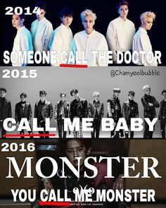 "Call... Call... Call.. Call... their favorite word is ""CALL"" ::;- #kpopmeme #memeexo"