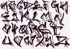 Hitam Graffiti Alphabet A Z 550x386 picture