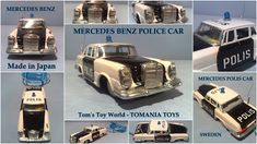 **** Tom's Toy World - TomaniaToys ****: Police Model Cars & Toys Ford Police, Police Cars, Mercedes Models, Mercedes Benz, Ford Fairlane, Japan Cars, Vintage Models, Car Ford, Diecast