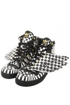 1ad0175a3b90 Unisex Wings Opart High Top Trainers Black White  New  Hervia  JeremyScott