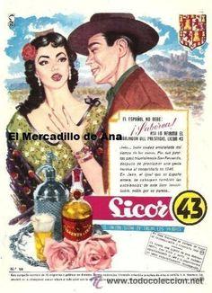 PUBLICIDAD LICOR 43 JAEN ANUNCIO CARTEL PEQUEÑO