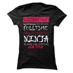 T shirt with Text. ACCOUNTANT Job Title