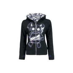 CUPCAKE CULT | VOODOO BUNNY [COLOR: BLACK] | GIRLS HOODED ZIP | Hooded... (180 PEN) ❤ liked on Polyvore featuring 11. jackets/hoodies/coats., tops, 11. jackets/coats/hoodies. and 15. jackets/hoodies/coats.