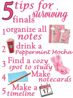 Five Tips for Surviving Finals- this would have been nice to have a few weeks ago!