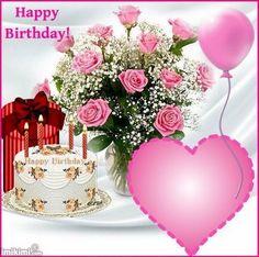 Happy Birthday Rose, Happy Birthday Wishes Photos, Happy Birthday Cake Images, Happy Birthday Celebration, Birthday Roses, Happy Birthday Sister, Happy Birthday Messages, Happy Birthday Greetings, Birthday Fireworks