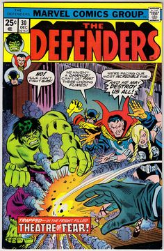 The Defenders # 30 , December 1975 , Marvel Comics Vol 1 1972 On the cover : Defenders ; Doctor Strange [ Stephen Strange ] ; the Hulk [ Bruce Banner ] ; Valkyrie ; Nighthawk [ Kyle Richmond ] ;...