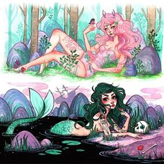 Nymph & Mermaid. Punk rock.