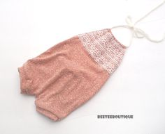Brick  Halter Backless Romper Lace  Stretchy  by BeeTeeBoutique