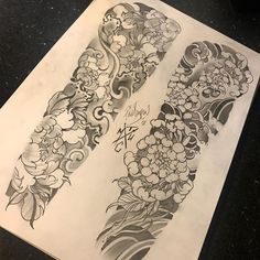 Another couple of concept sketches. peonies or chrysanthemums. colour or black and grey. Japanese Flower Tattoo, Japanese Dragon Tattoos, Japanese Tattoo Designs, Japanese Sleeve Tattoos, Wave Tattoo Sleeve, Full Sleeve Tattoo Design, Best Sleeve Tattoos, Irezumi Tattoos, Tatuajes Irezumi