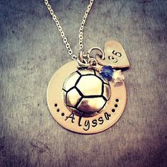 Hey, I found this really awesome Etsy listing at https://www.etsy.com/listing/184770934/soccer-stamped-necklace