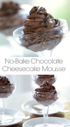 decadent No-Bake mousse without raw eggs. Awesome easy dessert idea ...