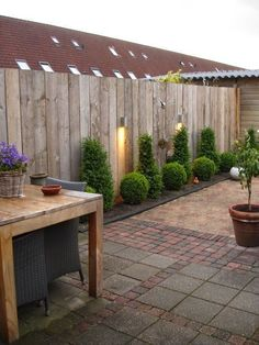 60 The best ideas for different types of garden fence boards – Garden Landscaping ideas – – - Garden Types Garden Types, Veg Garden, Garden Fence Panels, Garden Fencing, Bamboo Fencing, Wood Fences, Horse Fence, Garden Privacy, Fence Plants