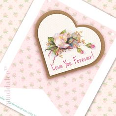 """Free """"Love You Forever"""" Bunting download at Maddalee!"""