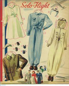 Airliner paper dolls 1941 /  missmissypaperdolls