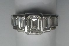 Diamonds and platinum, handmade by me