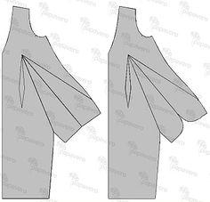 Modelowanie sukienki z wielką kieszenią. Patternmaking - dress.