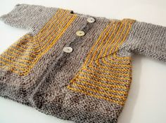 Baby Jacket Surprise BSJ grayyellowbeige for Babies von indiasmama, $65.00
