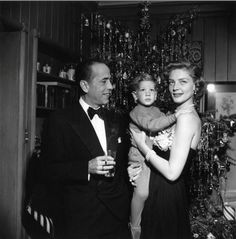 Humphry Bogart with wife, Lauren Bacall and their son - Stephen.