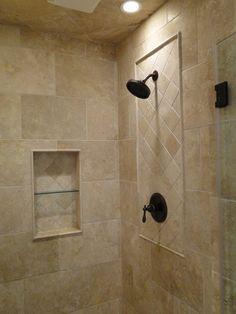 Travertine custom shower …