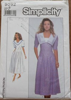 Items similar to Sailor Style Collar Dress with Pleated Skirt Simplicity Sewing  Pattern 9092 Misses  Size 10 Bust on Etsy fd53e752a