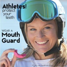 Athletes protect your teeth.. Wear a mouth guard!!