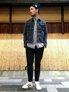 Street Fashion Trends The Raw Straight Cut Jeans Street Style Trends, Sneakers Mode, Sneakers Fashion, Fashion Tips For Women, Mens Fashion, Fashion Trends, Casual Outfits, Men Casual, La Mode Masculine