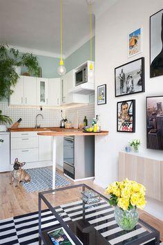 Apartamento pequeno com decoração simples, mas apaixonante - limaonagua