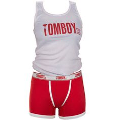 TomboyX Tank & Boxer Briefs - White/Red Feeling Frisky Combo | 2014 TomboyX – Women's clothing, menswear inspired
