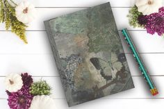 Grunge Butterfly Journal personal diary emo custom by Teakberry