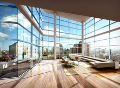 """King Arthur Apartments, the """"New Yorker"""" Penthouse Suite Luxury Apartments, Luxury Homes, New York Penthouse, Penthouse Suite, Luxury Penthouse, New York Hotels, Condo Living, Pent House, Luxury Living"""