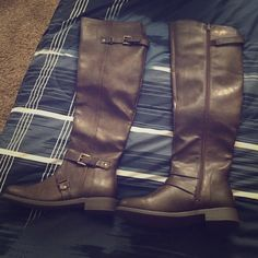 Over The Knee Boots Just Fab Over-The-Knee Boots! Standard calf. A little snug for me. :) never worn! JustFab Shoes Over the Knee Boots