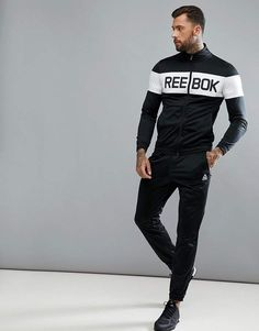 Reebok training tracksuit in black see more gym outfit men, funky outfits, Funky Outfits, Sport Outfits, Moda Men, Reebok Training, Gym Outfit Men, Black Reebok, Track Suit Men, Gym Wear, Sport Wear