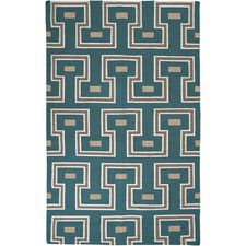 Frontier Teal Green Geometric Area Rug