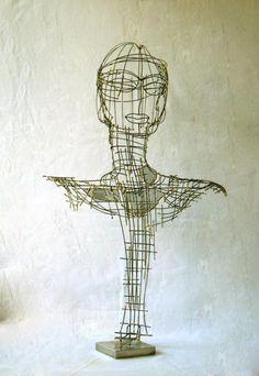 Sarah François (©2007 artsarah.com) sculpture en fils de fer et grillage soudés